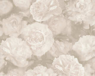 A.S. Création Wallpaper «Flowers, Grey, Pink, White» 374023