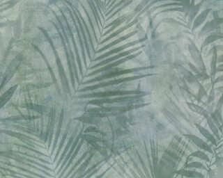 A.S. Création papier peint «Jungle, gris, vert» 374111