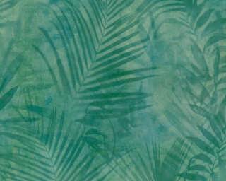 A.S. Création papier peint «Jungle, bleu, jaune, vert» 374112