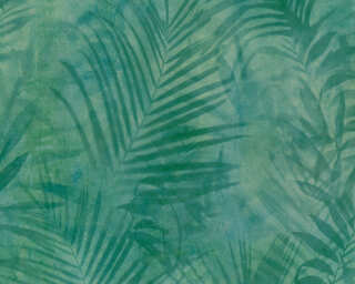 A.S. Création Tapete «Dschungel, Blau, Gelb, Grün» 374112
