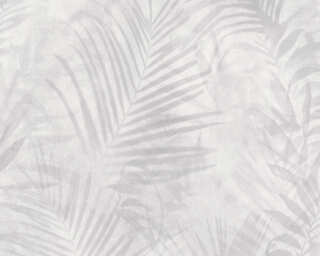 A.S. Création papier peint «Jungle, blanc, crème, gris» 374115