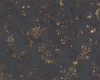 A.S. Création Wallpaper «Baroque, Black, Gold, Metallic» 374132
