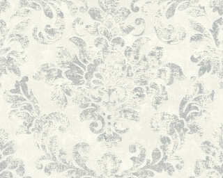 A.S. Création Wallpaper «Baroque, Grey, Metallic, Silver, White» 374134