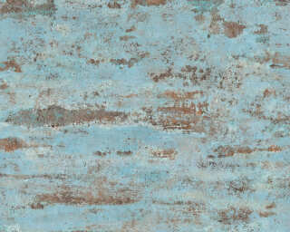 A.S. Création Wallpaper «Uni, Black, Blue, Brown, Orange» 374153