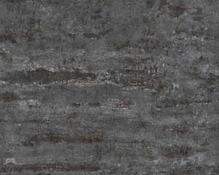 A.S. Création papier peint «Uni, noir» 374154