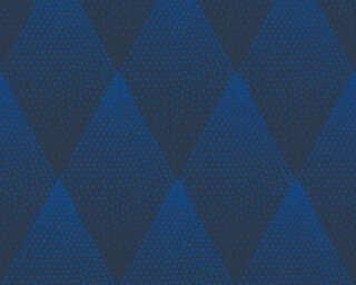 Livingwalls Tapete «Grafik, Blau, Schwarz» 374191