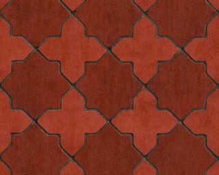 Livingwalls Tapete «Fliesen, Grau, Rot, Schwarz» 374211