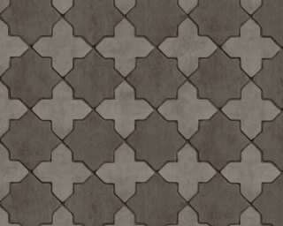 Livingwalls Wallpaper «Tile, Black, Grey» 374213