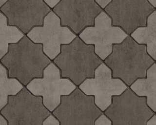 Livingwalls papier peint «Tuile, gris, noir» 374213