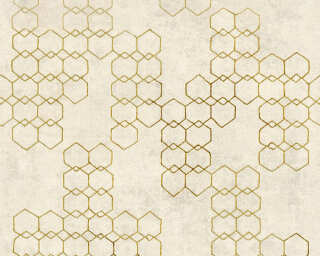 Livingwalls Wallpaper «Graphics, Cream, Gold, Grey, Metallic» 374242