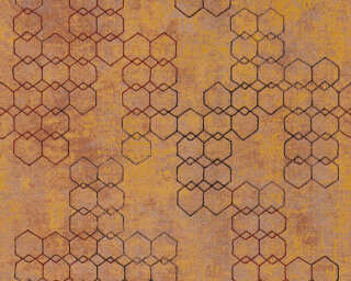 Livingwalls Wallpaper «Graphics, Brown, Copper, Metallic, Orange» 374243