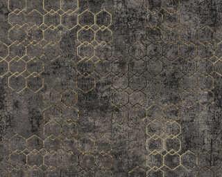 Livingwalls papier peint «Graphique, métallique, noir, or» 374246