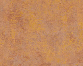 Livingwalls Wallpaper «Uni, Brown, Gold, Metallic, Orange» 374253