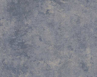 Livingwalls Wallpaper «Uni, Blue, Gold, Grey, Metallic» 374255