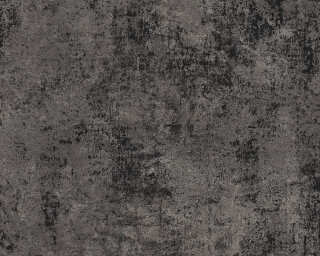 Livingwalls Wallpaper «Uni, Black, Gold, Metallic» 374256