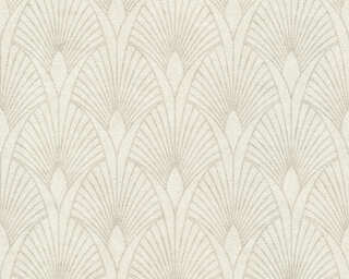 Livingwalls Wallpaper «Baroque, Cream, Metallic, Silver, White» 374271