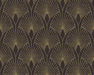 Livingwalls Wallpaper «Baroque, Black, Gold, Metallic» 374273