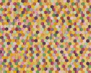 A.S. Création papier peint «Bois, beige, jaune, multicolore, orange» 374631