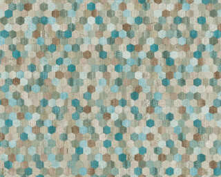 A.S. Création Wallpaper «Wood, Beige, Blue, Brown, Green» 374632