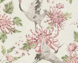 A.S. Création Tapete «Floral, Grau, Grün, Rosa, Weiß» 374642