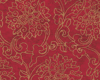A.S. Création Wallpaper «Floral, Bronze, Gold, Metallic, Red» 374701