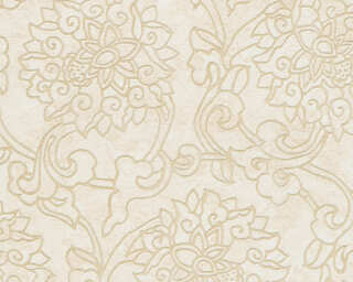 A.S. Création Wallpaper «Floral, Beige, Cream, Metallic» 374703
