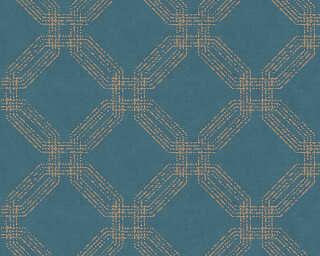A.S. Création Tapete «Grafik, Blau, Gold, Metallics» 374773