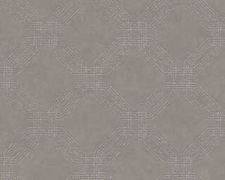 A.S. Création Wallpaper «Graphics, Brown, Grey, Metallic, Silver» 374774