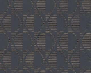 A.S. Création Wallpaper «Graphics, Black, Gold, Metallic» 374781