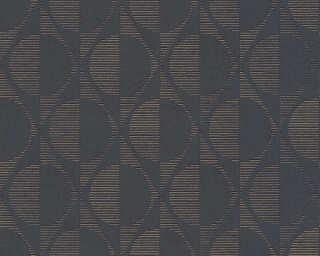 A.S. Création papier peint «Graphique, métallique, noir, or» 374781