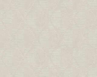 A.S. Création papier peint «Graphique, beige, crème, gris, taupe» 374782