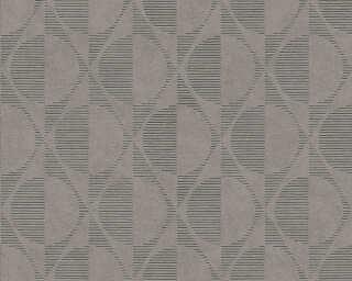 A.S. Création papier peint «Graphique, beige, gris, marron, noir» 374785