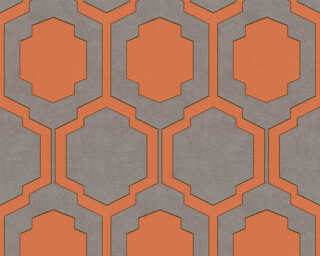 A.S. Création Wallpaper «Graphics, Beige, Copper, Grey, Orange» 374793