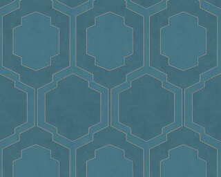 A.S. Création Wallpaper «Graphics, Blue, Metallic, Silver» 374794