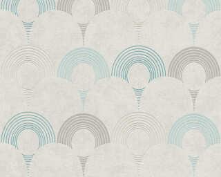 A.S. Création Tapete «Grafik, Beige, Blau, Grau, Grün» 374804