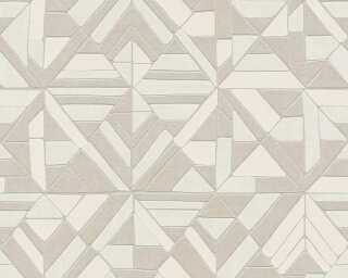 A.S. Création Wallpaper «Graphics, Beige, Cream, Grey, Silver» 374812