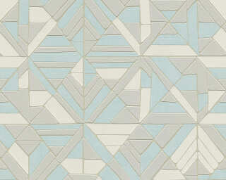 A.S. Création Wallpaper «Graphics, Blue, Cream, Grey, Taupe» 374813