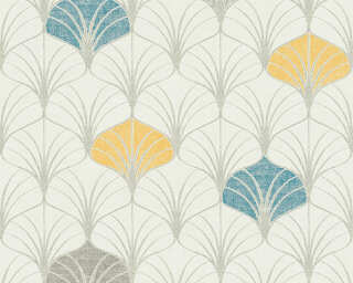 A.S. Création Wallpaper «Graphics, Beige, Blue, Cream, Grey» 374831