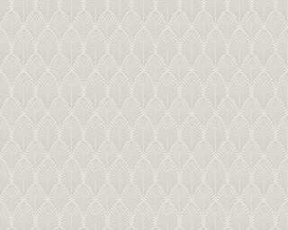 A.S. Création Wallpaper «Graphics, Metallic, Silver, White» 374841