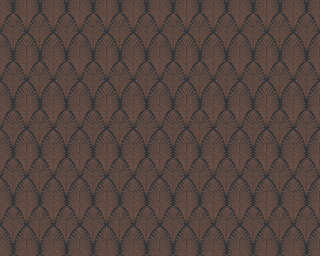 A.S. Création Wallpaper «Graphics, Black, Copper, Metallic» 374842
