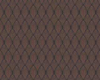 A.S. Création papier peint «Graphique, cuivre, métallique, noir» 374842