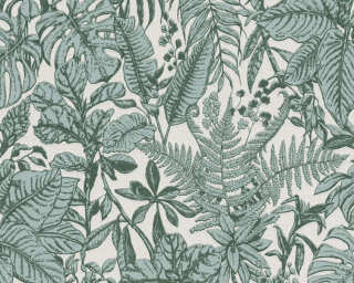 Daniel Hechter Wallpaper «Cottage, Floral, Cream, Green, Grey» 375202
