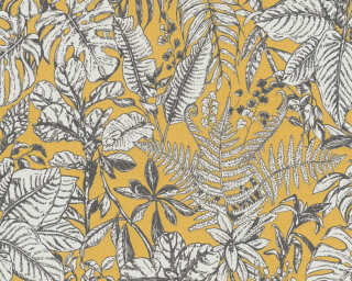 Daniel Hechter Wallpaper «Cottage, Floral, Grey, White, Yellow» 375203
