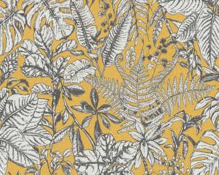 Daniel Hechter Tapete «Landhaus, Floral, Gelb, Grau, Weiß» 375203