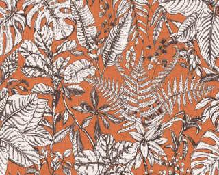 Daniel Hechter Tapete «Landhaus, Floral, Orange, Weiß» 375204