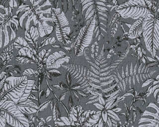Daniel Hechter Wallpaper «Cottage, Floral, Black, Grey» 375205