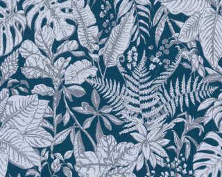 Daniel Hechter Tapete «Landhaus, Floral, Blau, Grau» 375206