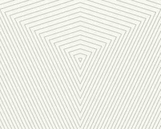 Daniel Hechter Tapete «Grafik, Metallics, Silber, Weiß» 375222