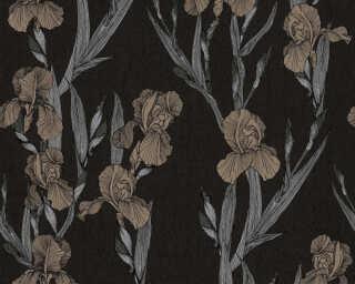 Daniel Hechter Wallpaper «Cottage, Floral, Beige, Black, Grey, Taupe» 375261