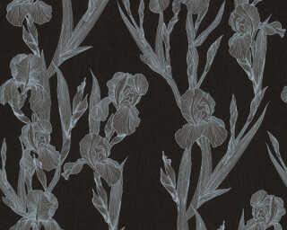 Daniel Hechter Tapete «Landhaus, Floral, Grau, Schwarz» 375262